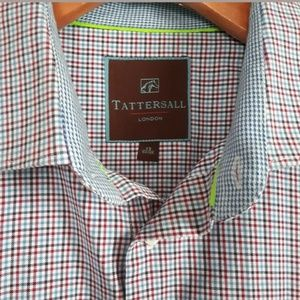 Tattersall London Mens L/S Dress Shirt Size 17